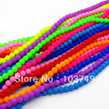 6mm Round Fluorescent Glass Loose Beads For Necklace &amp; Bracelet, Wholesale Iridescent Smooth Beads 1 lot, Free Shipping HB418