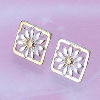 High Quality Free Shipping Silver Plated Earrings Fashion Jewelry Factory Price silver earring jewellry E147