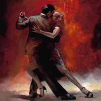 New Modern Vintage Portrait Oil Paintings Painting Canvas Lover Tango Dance Art3