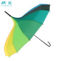 16 the bone pagoda rainbow umbrella creative personality rain or shine dual-use long-handled umbrellas