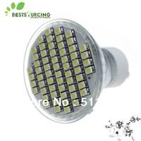 free shipping hot selling 1pcs GU10 4W cool White/ Warm White 3528 SMD 60 LEDs Light bulbs lamp 220-240V