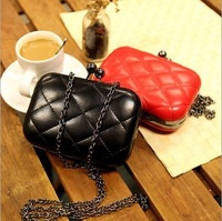 Bpearl plaid square box women's handbag day Clutch fashion mobile phone bag cosmetic Mini  bag package coin purse small bag