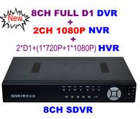 2014 brazil New HD CCTV 8CH Full D1 H.264 DVR Standalone Super DVR SDVR/HVR/NVR Security System 1080P HDMI Output DVR