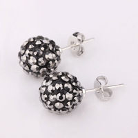 Shambala Balls Beads Eearrings Shambhala Rhinestone Crystal Fashion Jewelry Shamballa Earring B022
