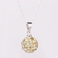 Shambhala Rhinestone Crystal Fashion Jewelry Shamballa Necklace Shambala Balls Bead Necklaces P007