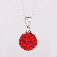 Shambhala Rhinestone Crystal Fashion Jewelry Shamballa Necklace Shambala Balls Bead Necklaces P008