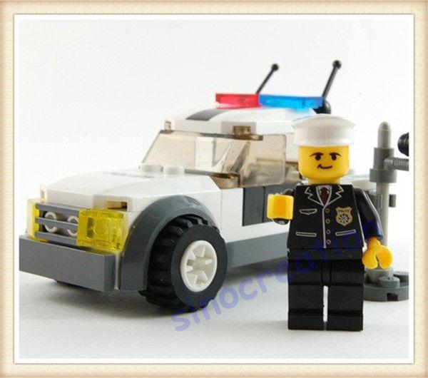 KAZI 69pcs/set DIYTraffic Police Educational Plastic Toy Building Block Set 6731 For Children, Free Shipping(China (Mainland))