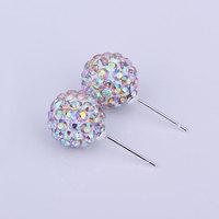Shambala Balls Beads Eearrings Shambhala Rhinestone Crystal Fashion Jewelry Shamballa Earring B027