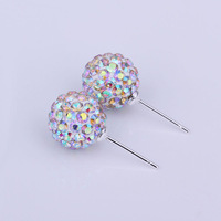 Shambala Balls Beads Eearrings Shambhala Rhinestone Crystal Fashion Jewelry Shamballa Earring B027