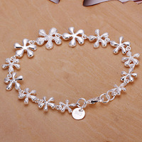 2013 wholesale Free shipping Fashion Chain Bracelet Health Care 925 Silver-plated Bracelets Jewelry H156