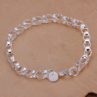 2013 wholesale Free shipping Fashion Chain Bracelet Health Care 925 Silver-plated Bracelets Jewelry H167