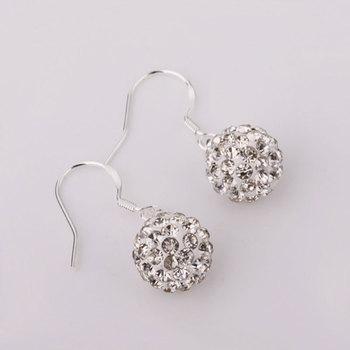 Shambala Balls Beads Eearrings Shambhala Rhinestone Crystal Fashion Jewelry Shamballa Earring B026