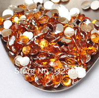5MM Silver Plated Flatback Topaz Yellow Acrylic Rhinestone Button Supply for Nail Art Garment Bags Shoes Decoration-10000PCS