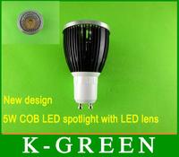 DHL FEDEX UPS TNT EMS free shipping high quality GU10 5w cob led spotlight