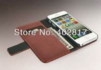 PU Leather Case For iphone 5 5G Wallet Case Stand Design With Card Holder 6 Color Wholesale 50pcs/lot