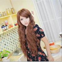 Long roll bulkness corn hot wig dull girls long curly hair Free Shipping