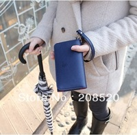 JJ49 free shipping wholesale retail fashion candy color sweet mobile phone wallet leather purse card holder