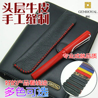 Cowhide genuine leather pencil pen protective case