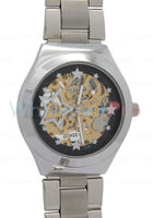 2013 Ladies' Daybird Manual Self-Winding Skeleton Five-pointed Star Design Black Dial Fashion Watch