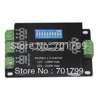 PX24506;3A*3channel dmx constant voltage decoder,DC12-24V input;metal case