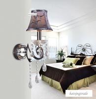 wholesale top K9 crystal wall lamp ,wall light ,beddroom wall lamp,