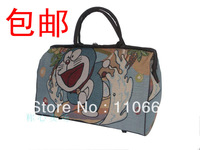 #335 High-grade Linen Doraemon large capacity travel bag