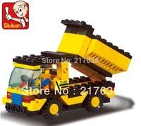 Sluban 93pcs/set Children's DIY educational  toys. DIY dump truck M38-B9500 block toys. Free shipping