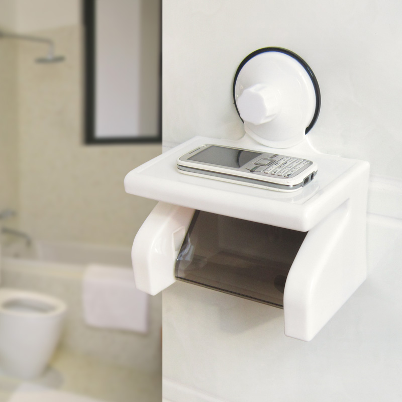 Shuangqing Waterproof Roll Paper Holder Strong Suction Cup