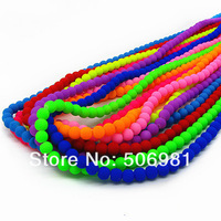 8mm Fluorescent Round Glass Loose Beads For Necklace&Bracelet Wholesale Iridescent Smooth Beads 1050pcs Free Shipping HB419