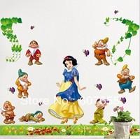 5pcs/lot free shipping 60*90cm  the third generation princess girl room Nursery art peel and stick art wall sticker wall sticker