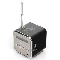 free ship Black Digital portable Speaker Mini Speaker MP3 Player USB Disk Micro SD TF Card FM Radio Line In/ Out sound box 80453
