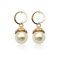 Golden/White 18K Gold Plated Earrings Jewelry Top Quality Great Austrian Crystal Earring Wholesale  1666364