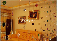 free shipping high quality crystal hanging wedding string curtain