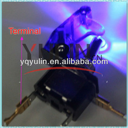 Free Shipping Cost Bakelite ASW-07D Blue 12V LED ON OFF Automobile Toggle Switch(China (Mainland))