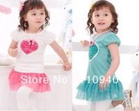 Hot sale children's skirt tutu baby girl dress kids wear flower Princess T-shirt kids clothing Children free shipping