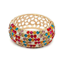 Exquisite Quality 18K White/Roee Gold Plated Bracelet Jewelry Austrian Crystals Best Seller Wholesale 1662624