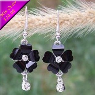 Korea Jewelry Heart Petals Flower Elegant Star Earrings Wholesale Earrings E636 E772(China (Mainland))