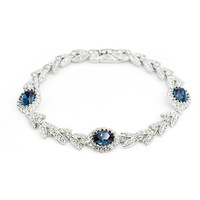 Exquisite Quality 18K White/Roee Gold Plated Bracelet Jewelry Austrian Crystals Best Seller Wholesale 1669420