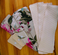 3 Natural Silk reusable menstrual pad& 3 Natural cotton Insert No allergies, no itching