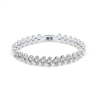 Exquisite Quality 18K White/Roee Gold Plated Bracelet Jewelry Austrian Crystals Best Seller Wholesale 1667522