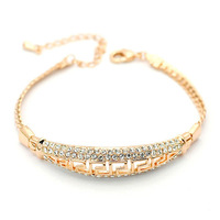 Exquisite Quality 18K White/Roee Gold Plated Bracelet Jewelry Austrian Crystals Best Seller Wholesale 1775211