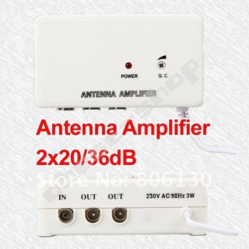 FM TV Amplified Aerial Antenna DVB-T Signal Amplifier Booster Splitter TV ANTENNA(China (Mainland))