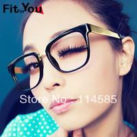 Top Quality-New Style Fashion Vintage male Women glasses big box myopia metal non-mainstream leopard print eyeglasses frame