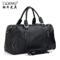 Hot Sale! Cattle man bag large capacity business casual genuine leather travel bag one shoulder handbag luggage travel bag 1024