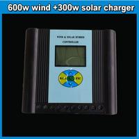 Wind Solar hybrid controller 12/24V LED screen display 600w wind turbine&300w solar panel charger controller