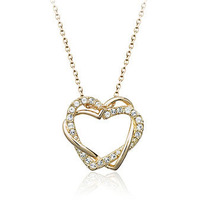 18K White/Rose Gold Plated Fashion Pendant Necklace Top Quality Austria Crystal Exquisite Jewelry 1727698