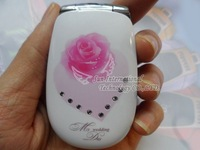 Free Shipping  Russian Flip Mobile Phone L002 Flip Cell Phone
