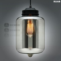 Niche modern turret crystal smoked pendant light yc