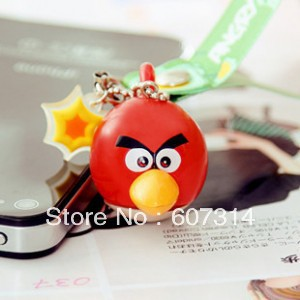 wholesale Fashion discount personalized Valentine Day gift novelty cartoon  kawaii  funny bird mobile phone pendant freeshipping
