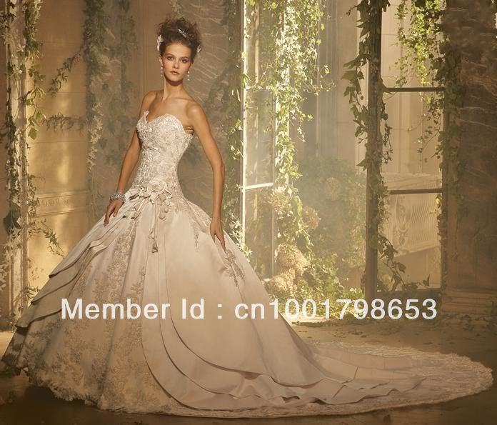 New white ivory champagne Wedding dress Bridal Gown custom size 2 4 6